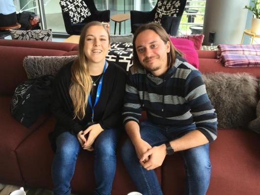 Sophie Johnke und Michael Pfaff bei ReDi School ©Marina Lessig