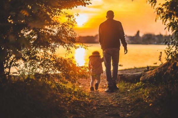 Familiennachzug - Vater mit Kind