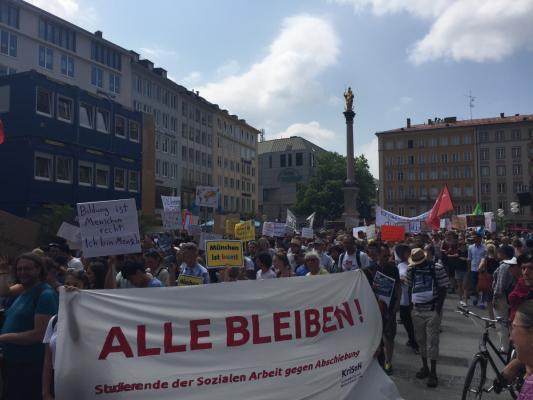 Bild von der Demonstration von Gemeinsam für Menschenrechte und Demokratie, Juli 2017